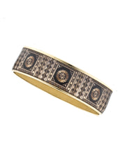 MAYA Russian Marquetry Bangle Bracelet 3/4""