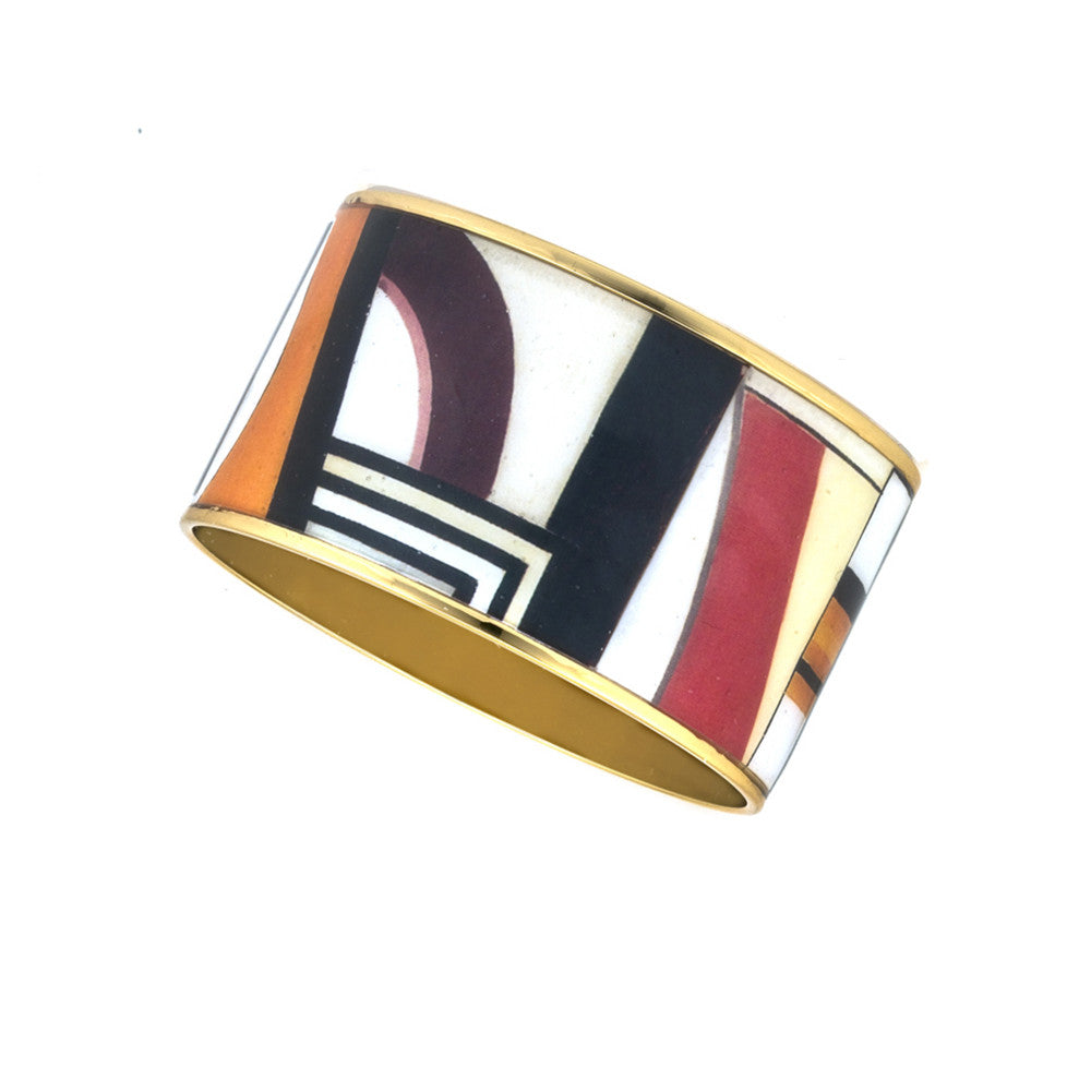 MAYA Geometric People Bangle Bracelet 1 1/2""