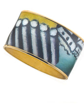 MAYA Geometric Barge Bangle Bracelet 1 1/2""
