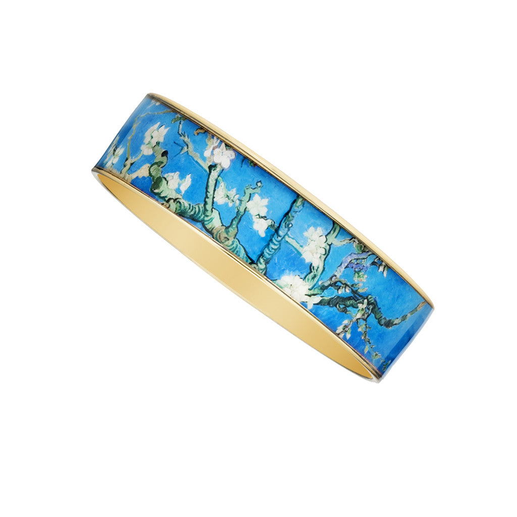 Van Gogh Almond Blossoms Bangle Bracelet 3/4""