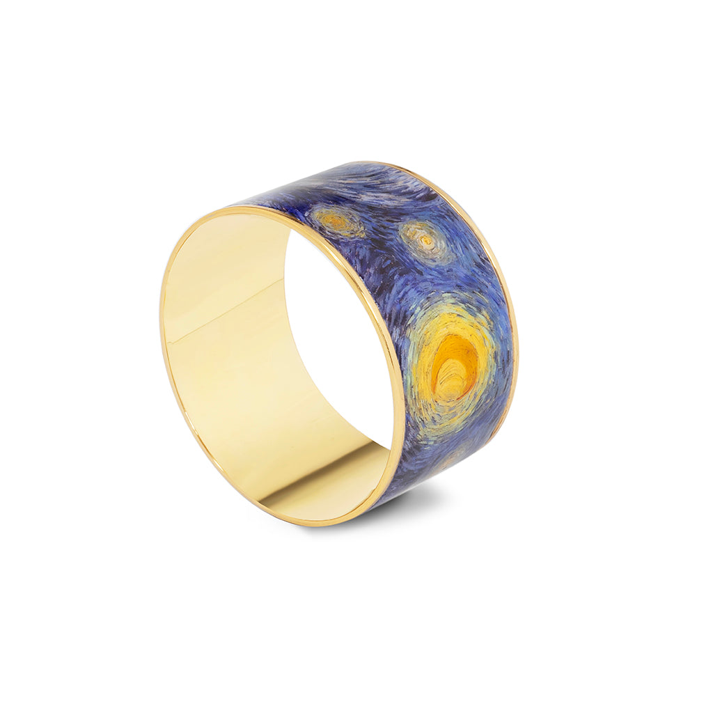 Goldtone The Starry Night Bangle Bracelet