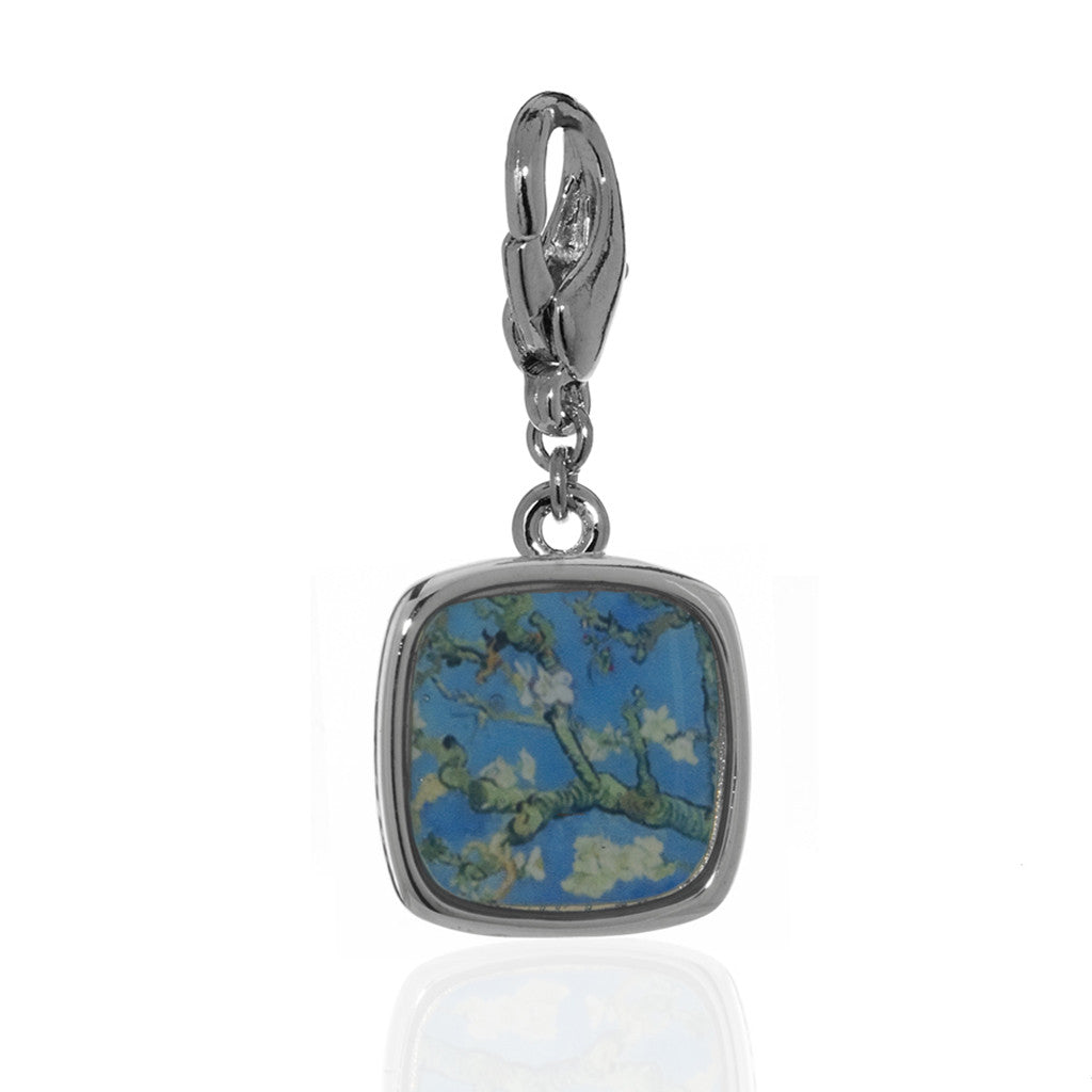 Van Gogh Almond Blossoms Charm (Lobster Claw)