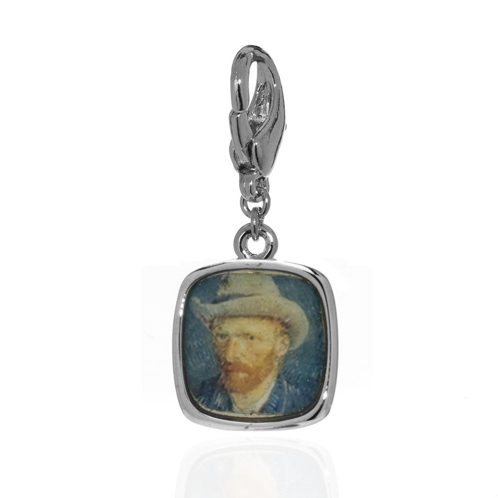 Van Gogh Self Portrait Charm (Lobster Claw)