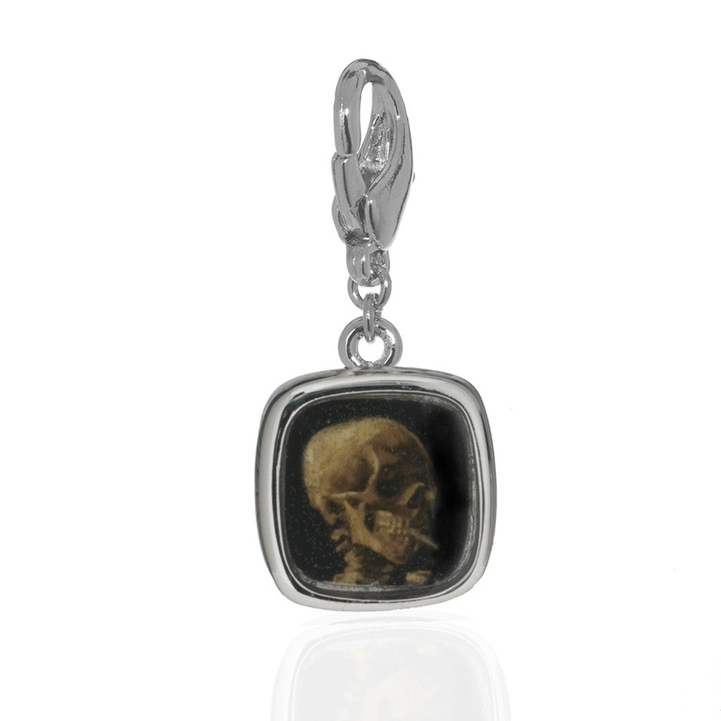 Van Gogh Small Skull Charm (Lobster Claw)