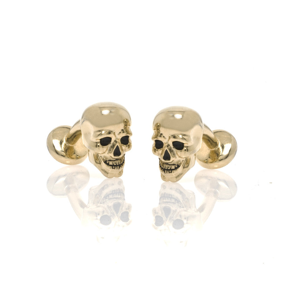 Goldtone Skull Cufflinks