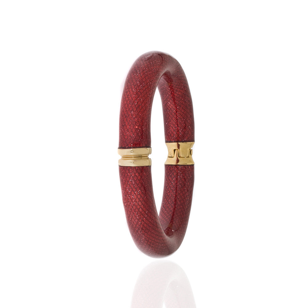 Stardust Large Red Snakeskin Bangle Bracelet