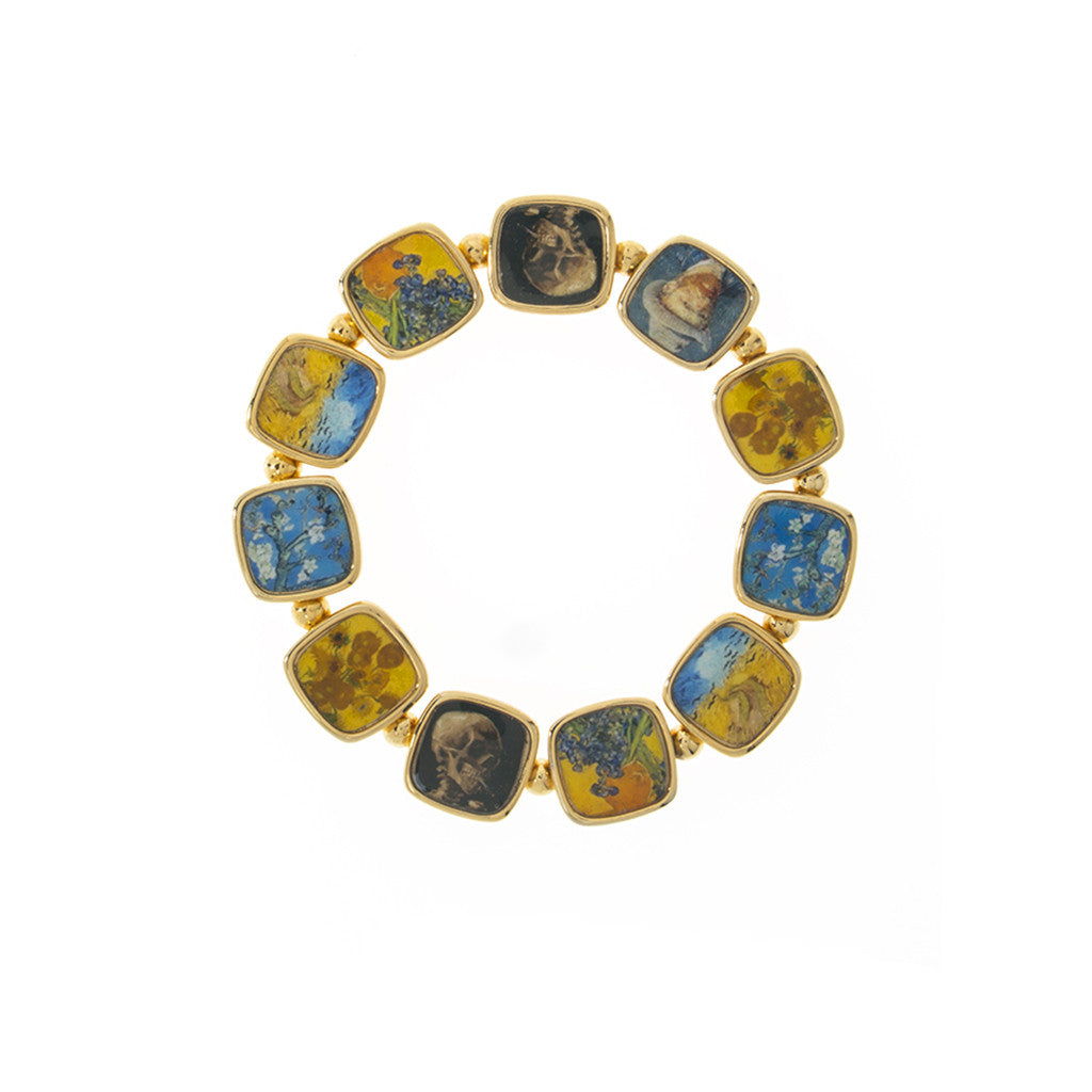 Van Gogh Goldtone Stretch Bracelet