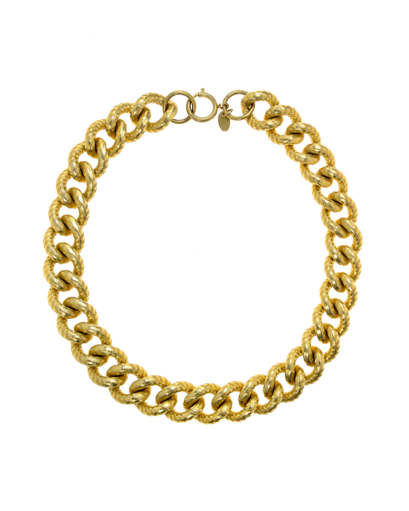 EDITH BOLD CURB CHAIN NECKLACE