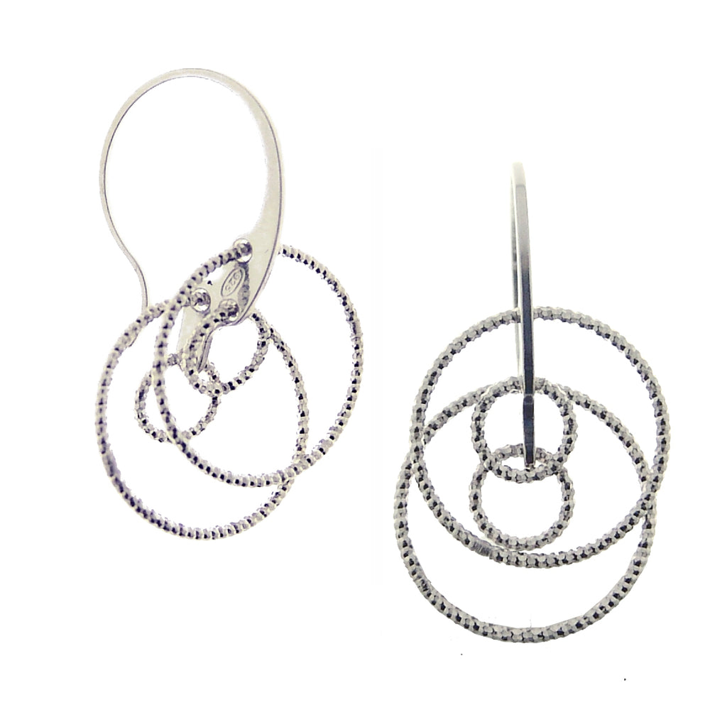 Sterling Silver Drop Earrings (Circle) LG
