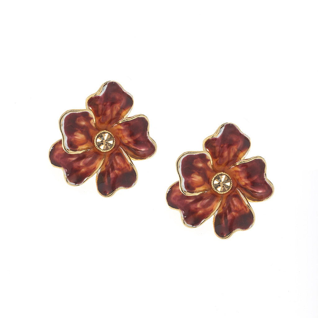 Garden Spicy Citrus Bloom Pierced Earrings