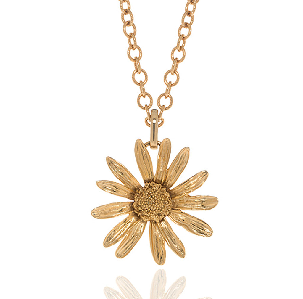 Botanica Mexicana Goldtone Daisy Necklace 36""