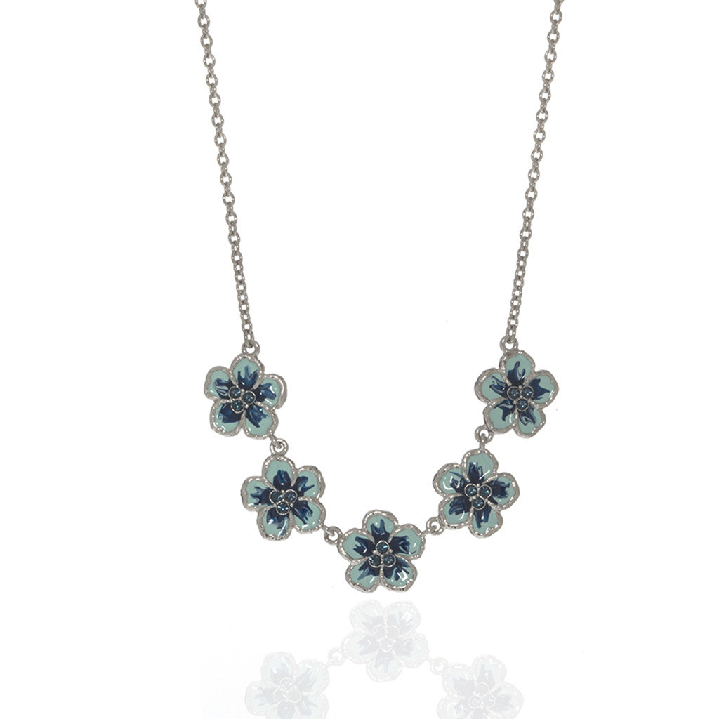 Orchid Evening Blue Mix Necklace