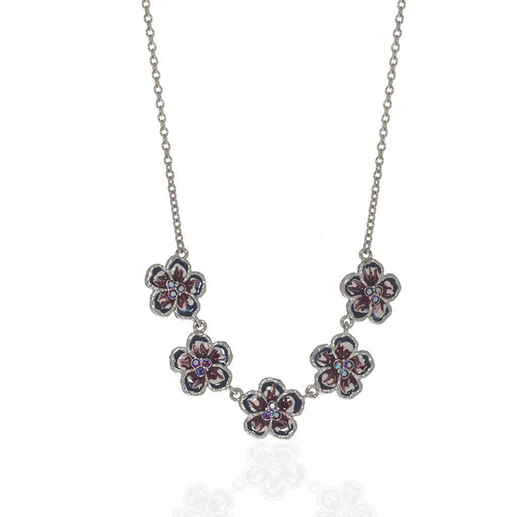 Orchid Evening Purple Mix Necklace