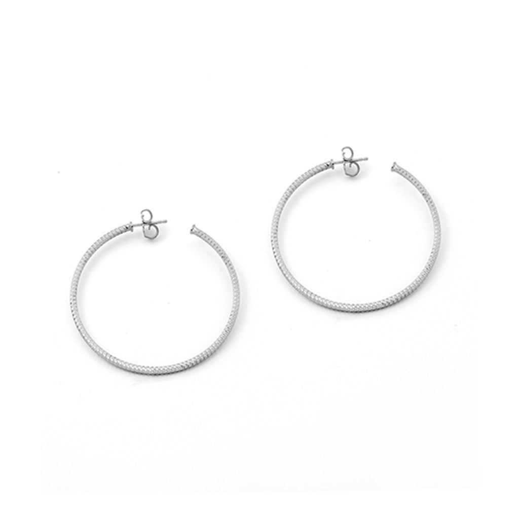 .925 Sterling Silver Hoop Earrings