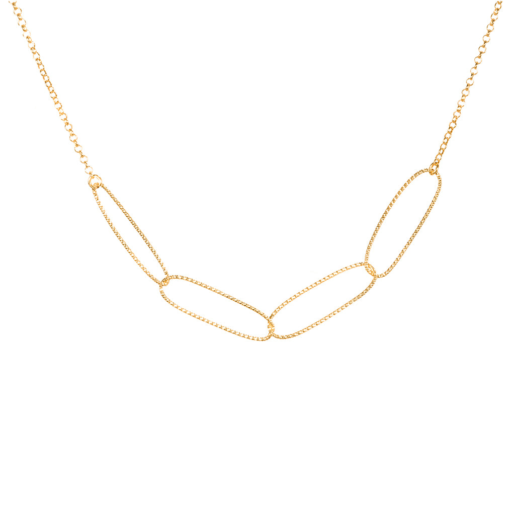 "17"" 22k Gold plated Sterling Silver Necklace"