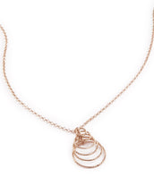 22k Rose Gold Plated Sterling Silver Necklace 18""