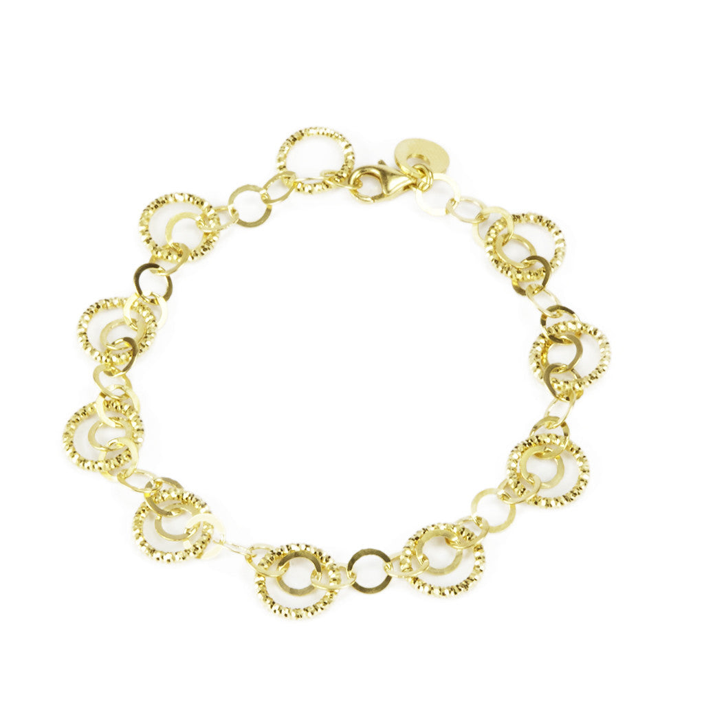 22k Gold Plated Sterling Silver Bracelet