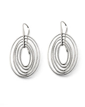 .925 Silver Oval Drop Earrings