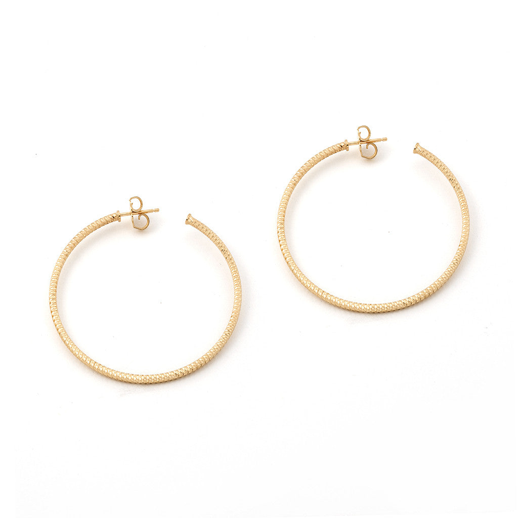 22k Gold Plated .925 Silver Hoop Earrings