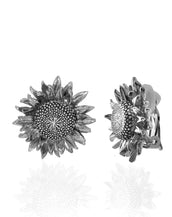 Botanica Mexicana Silvertone Sunflower Earrings