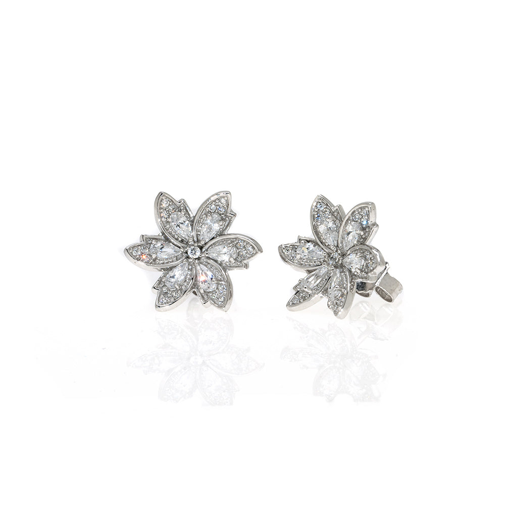 2.2 Carat Marquis CZ Sterling Silver Earrings