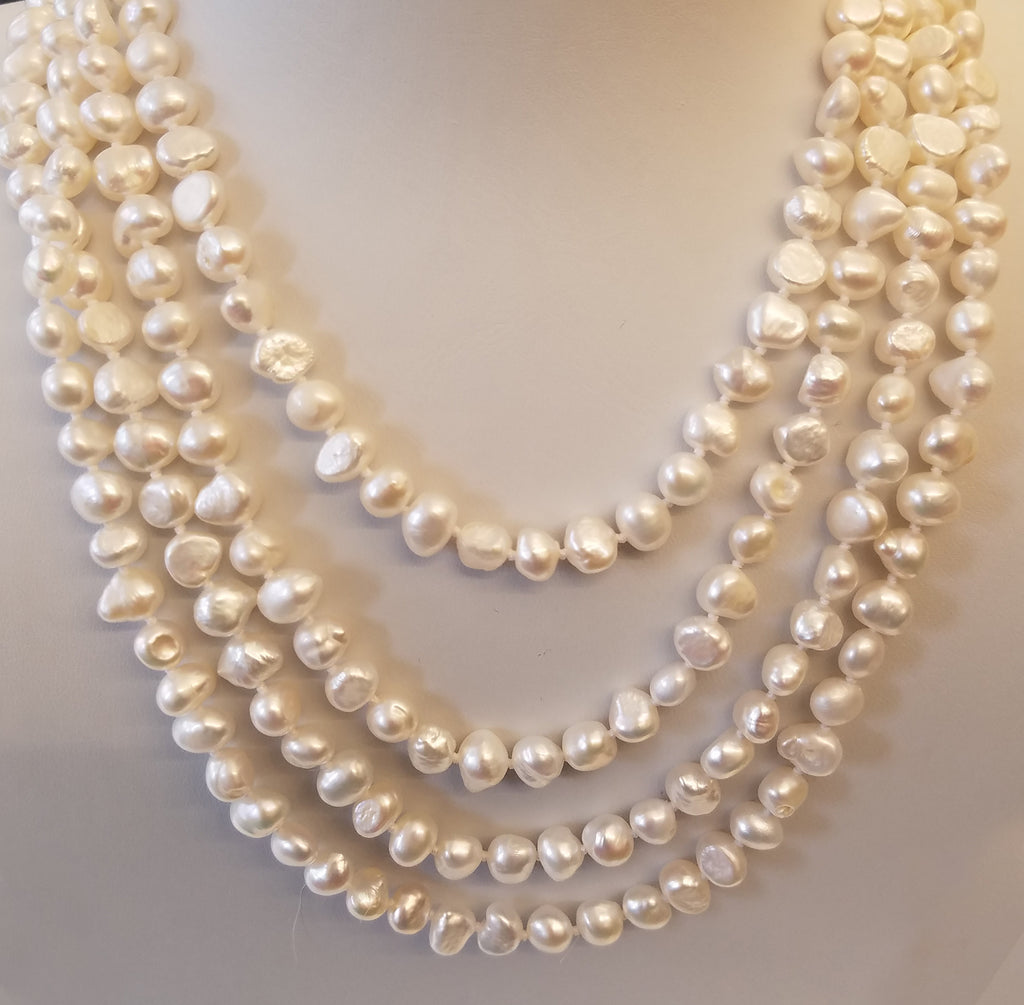 "80"" Fresh Water Pearl Endless Necklace"