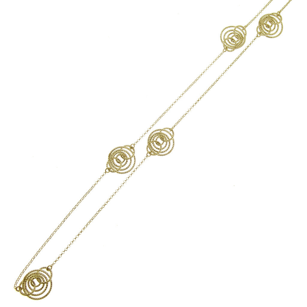 "22k Gold Plated Sterling Silver 30"" Necklace"