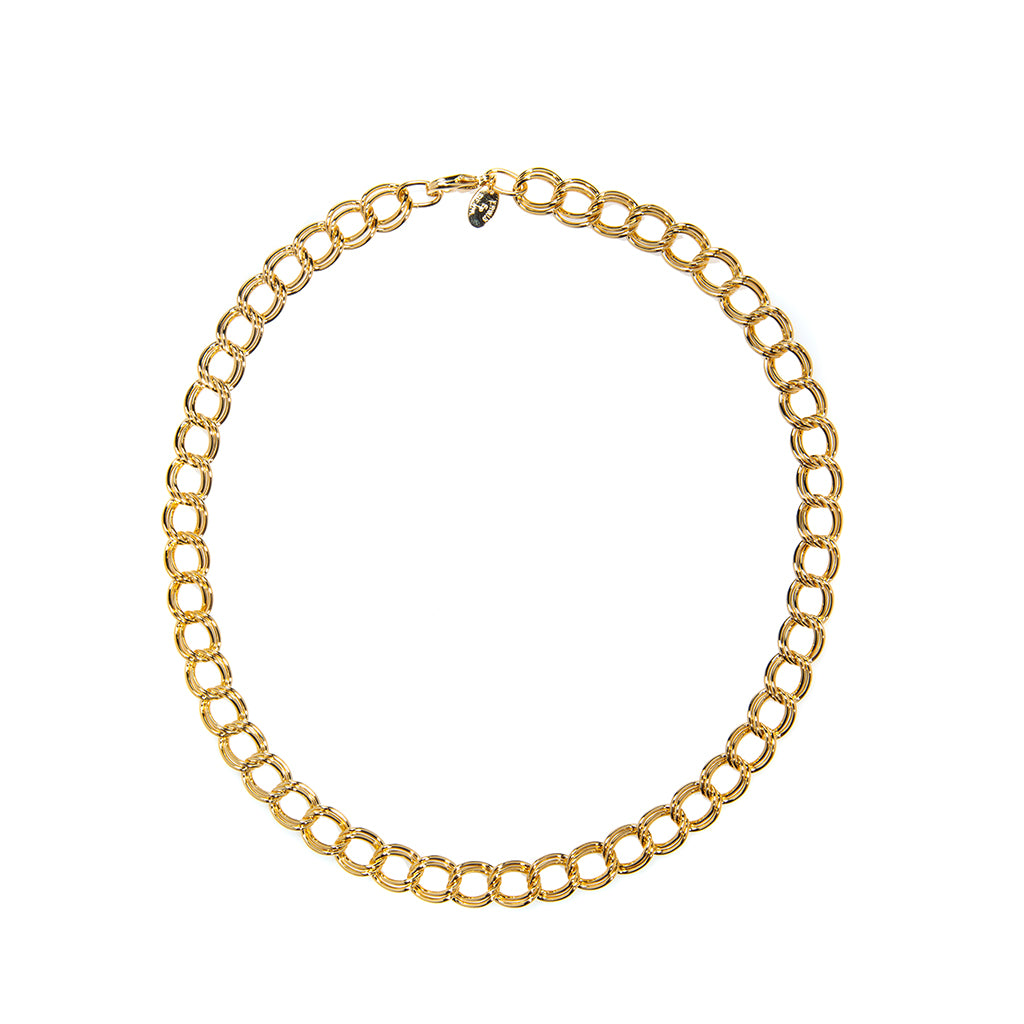 22k Gold Plated Parallel Curb Chain