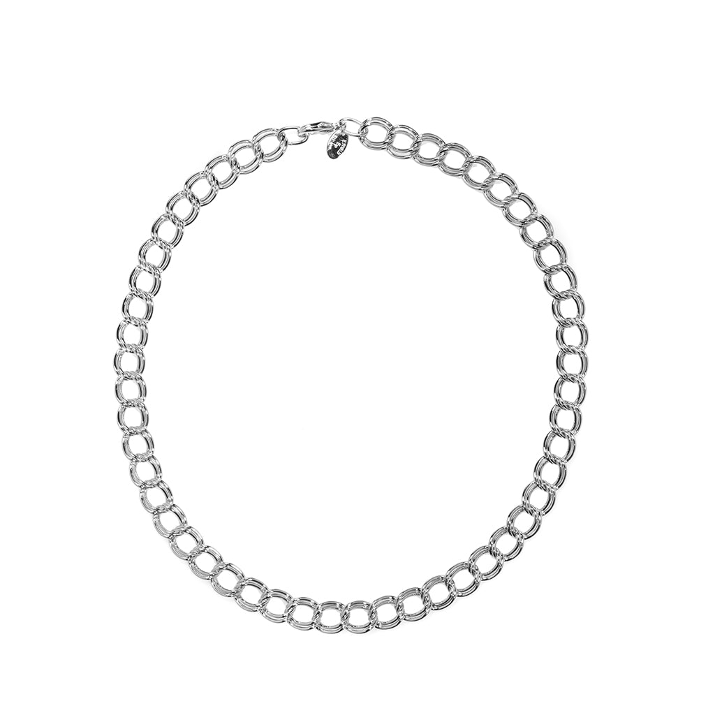 Rhodium Plated Parallel Curb Chain