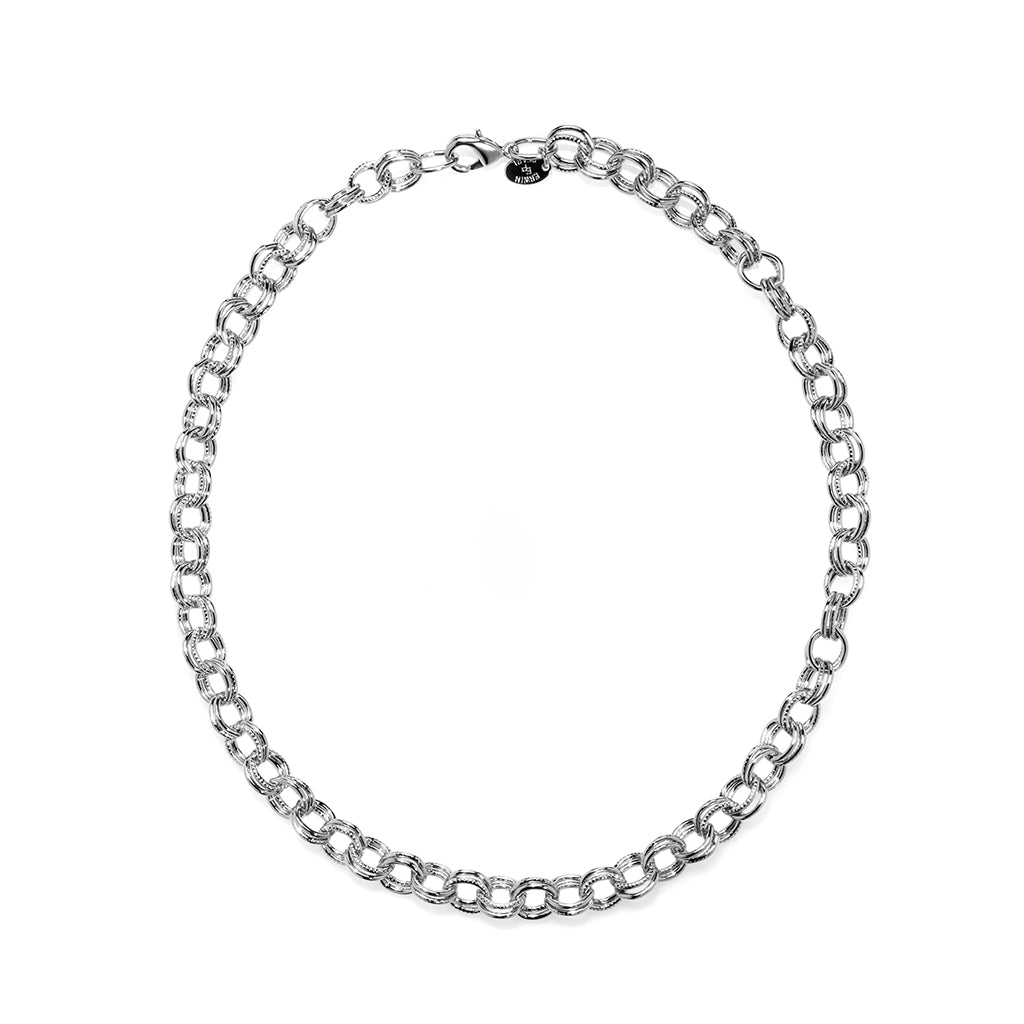 Rhodium Plated Double Cable Chain