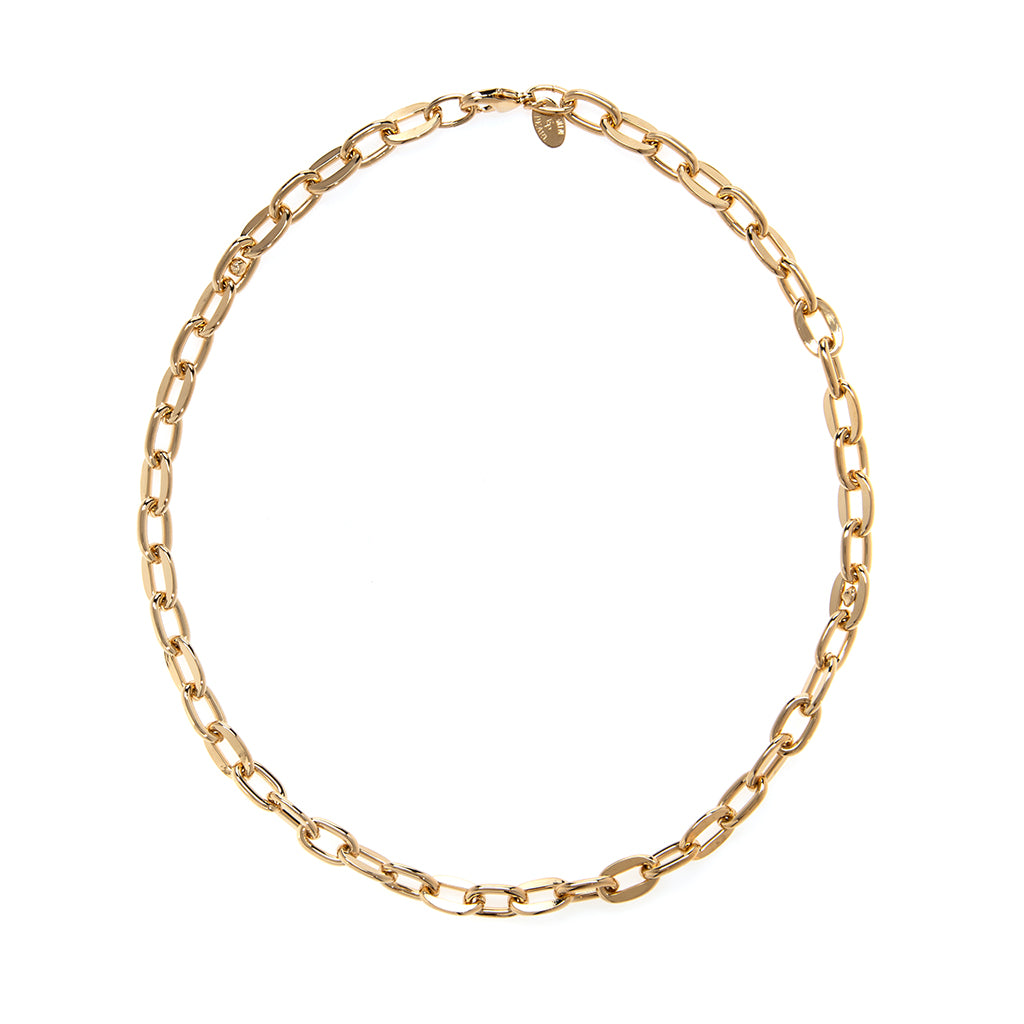 22k Gold Plated Open Link Cable Chain