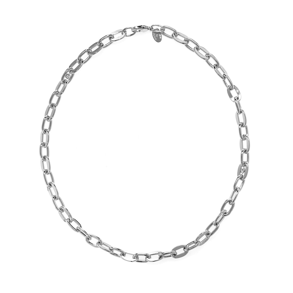 Rhodium Plated Open Link Cable Chain