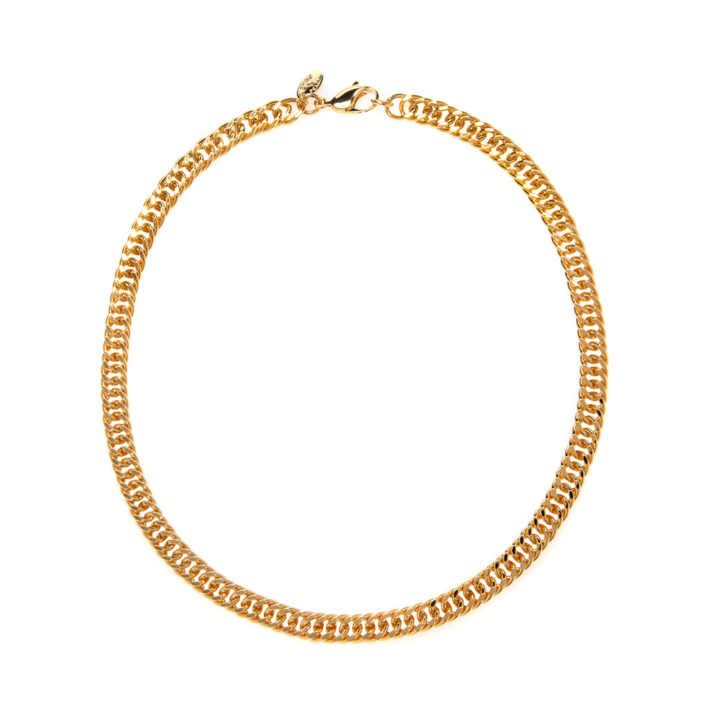 22k Gold Plated Double Curb Chain