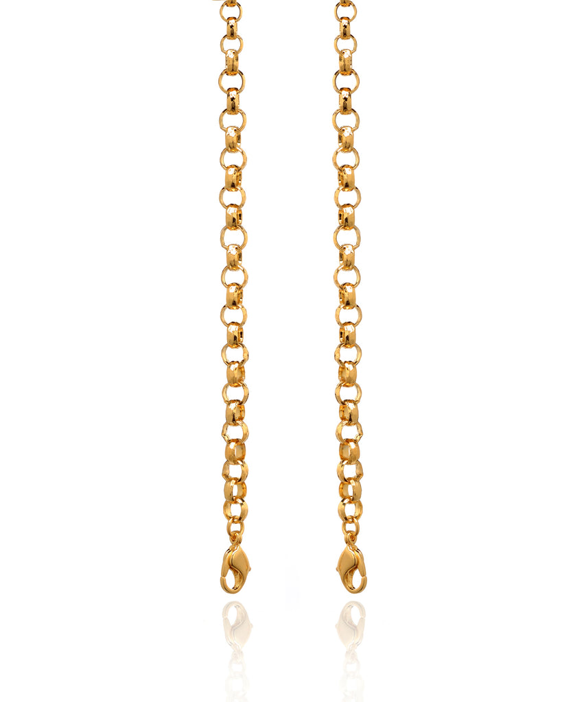 Sandra Faceted Rolo Chain