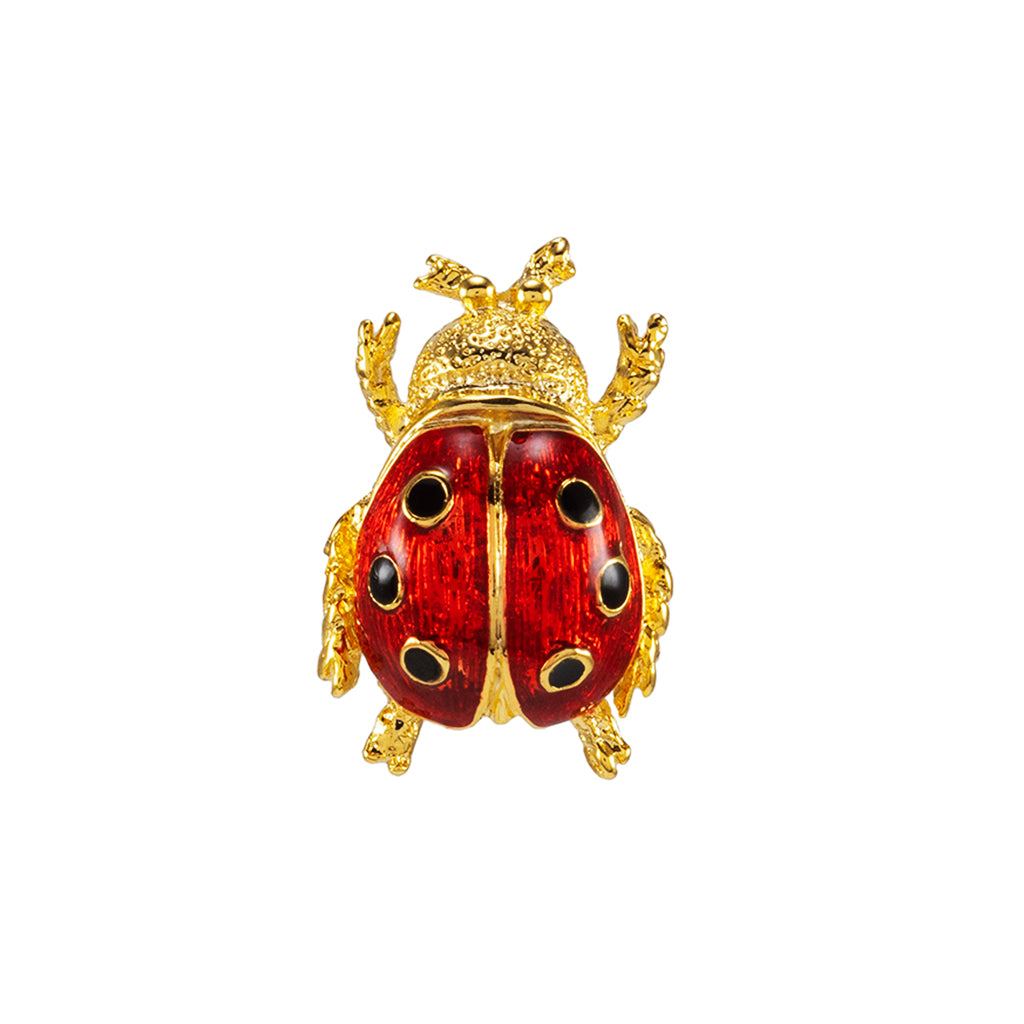 Goldtone Red Lady Bug Pin