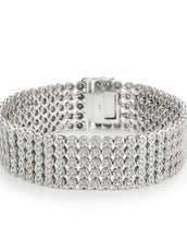 Sterling Silver CZ Five Row Bracelet.
