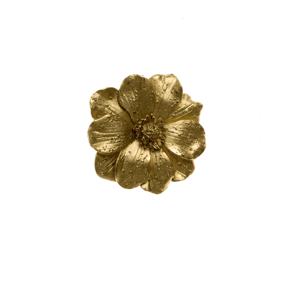 Giverny Gold Tone Flower Enhancer/Pin