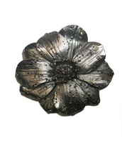 Silver Tone Flower Pin