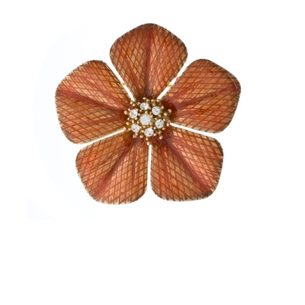 Garden of Love Orange Flower Pin