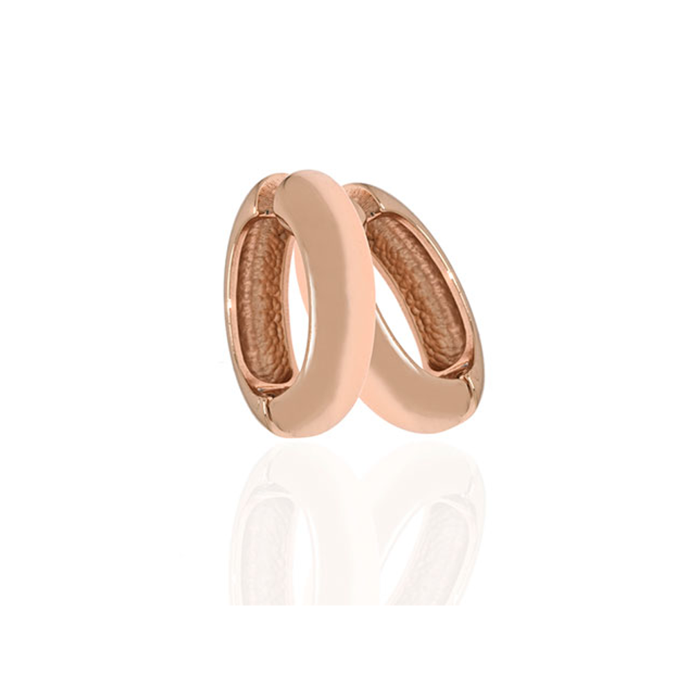 Medium Rose Gold Hoop-Eze Earrings