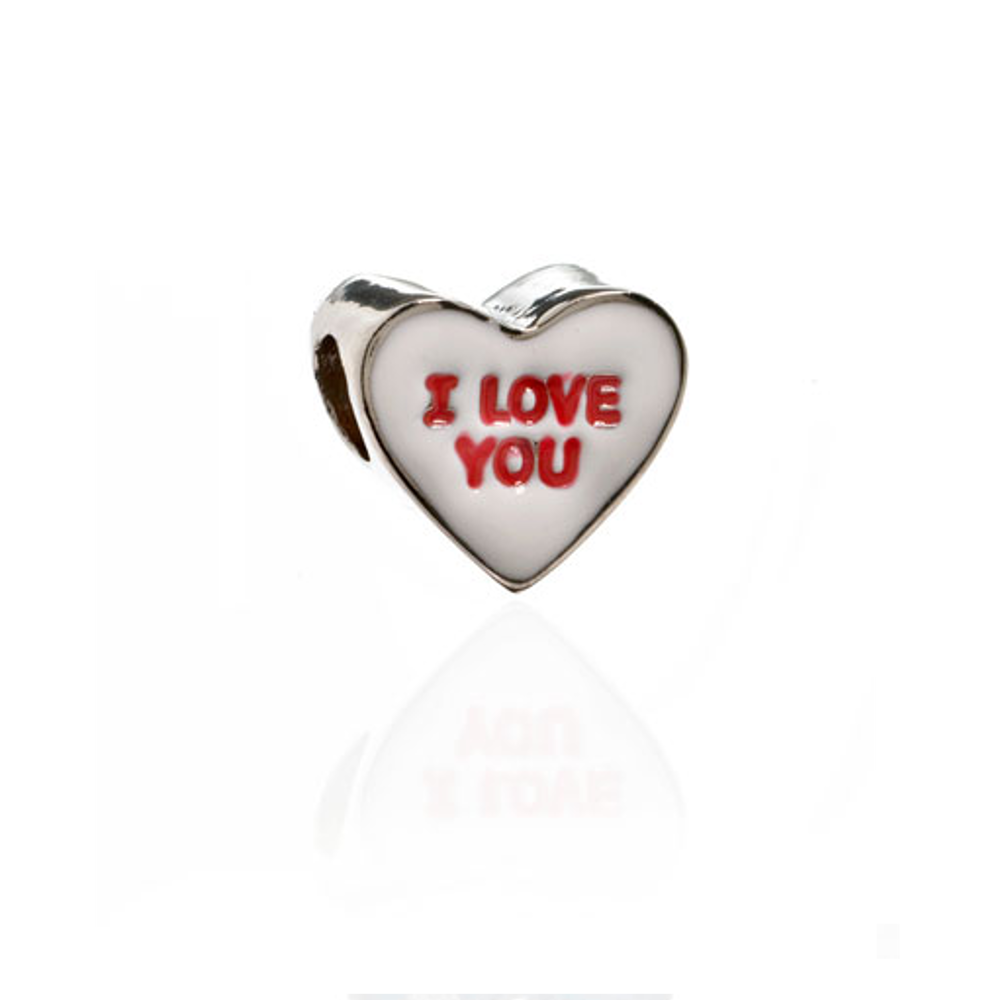 ME ME™ White I LOVE YOU Candy Heart Charm