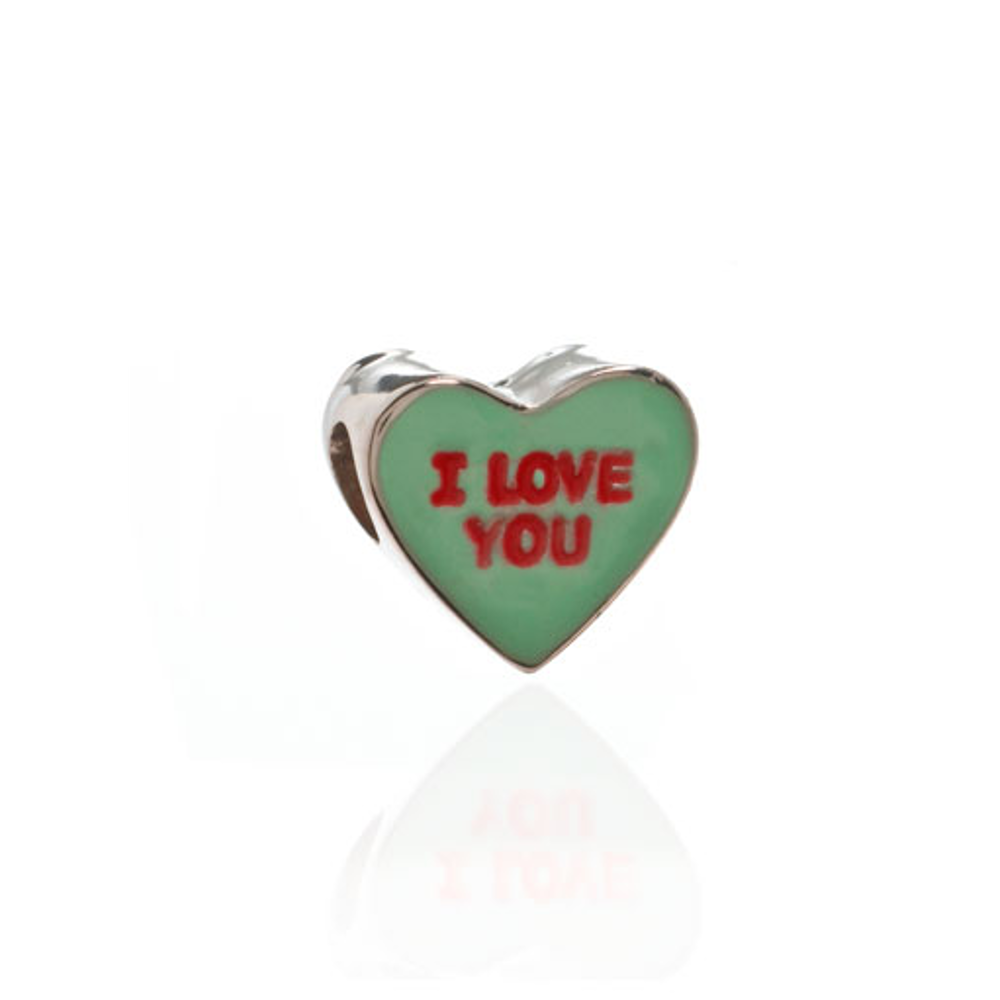 ME ME™ Green I LOVE YOU Candy Heart Charm