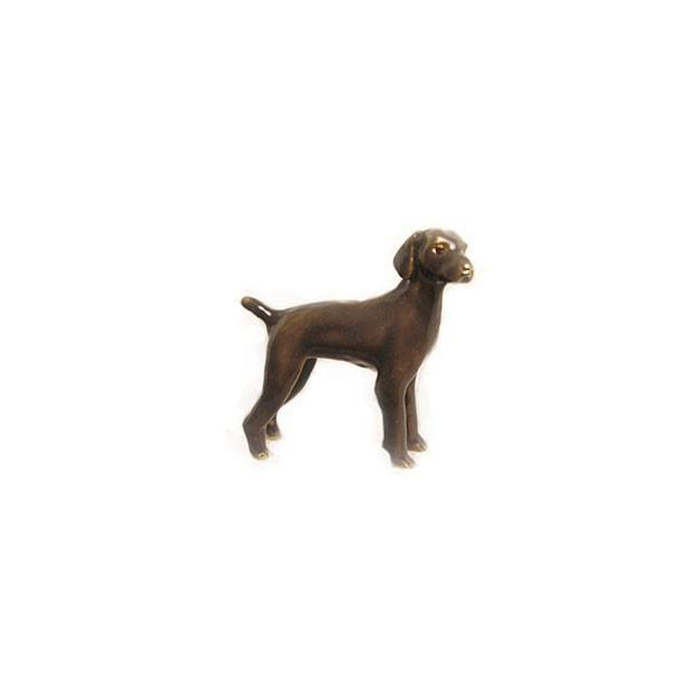 Dark Brown Weimaraner Adorable Pooch ® Pin