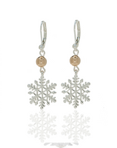 Winter in the Garden Silver Tone Snowflake Earrings