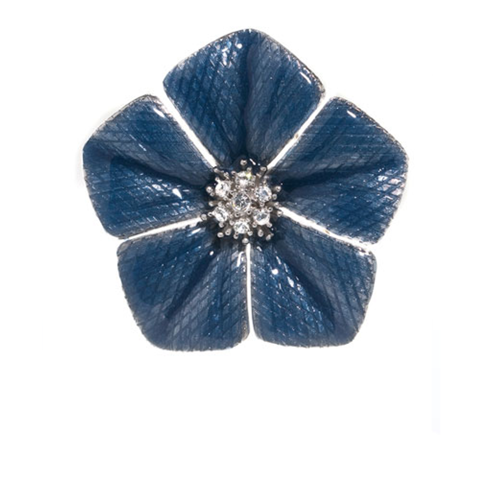 Garden of Love Blue Flower Pin