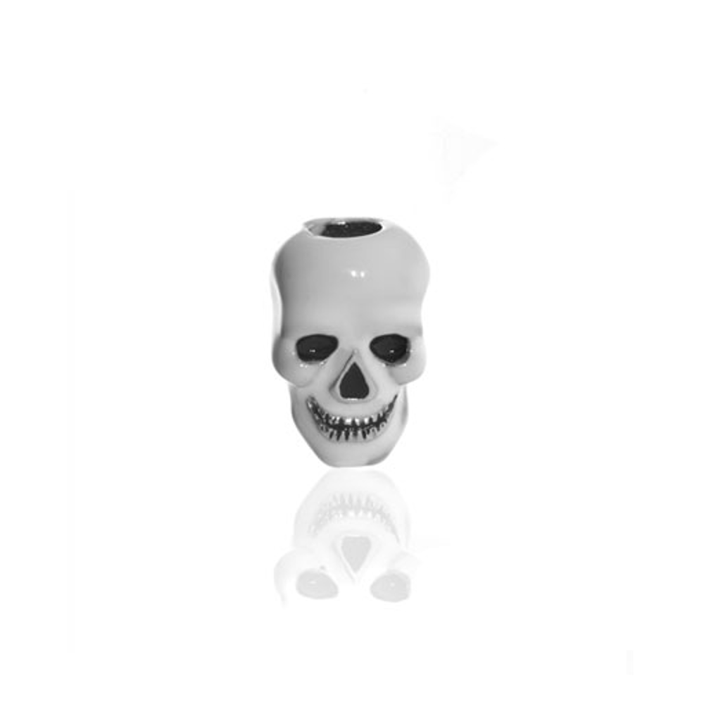 Me Me™ White Skull Charm With Black Eyes