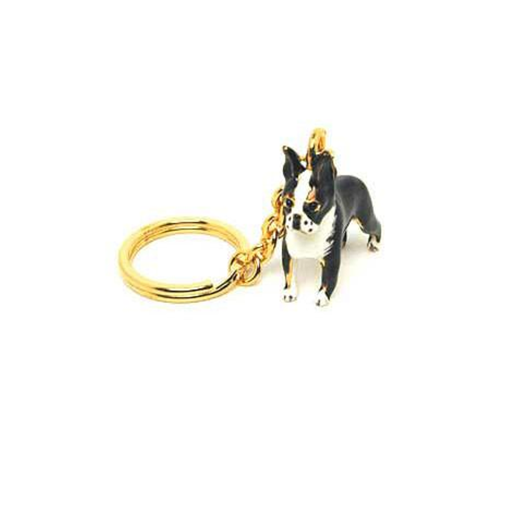 Boston Terrier Adorable Pooch ® Keyring