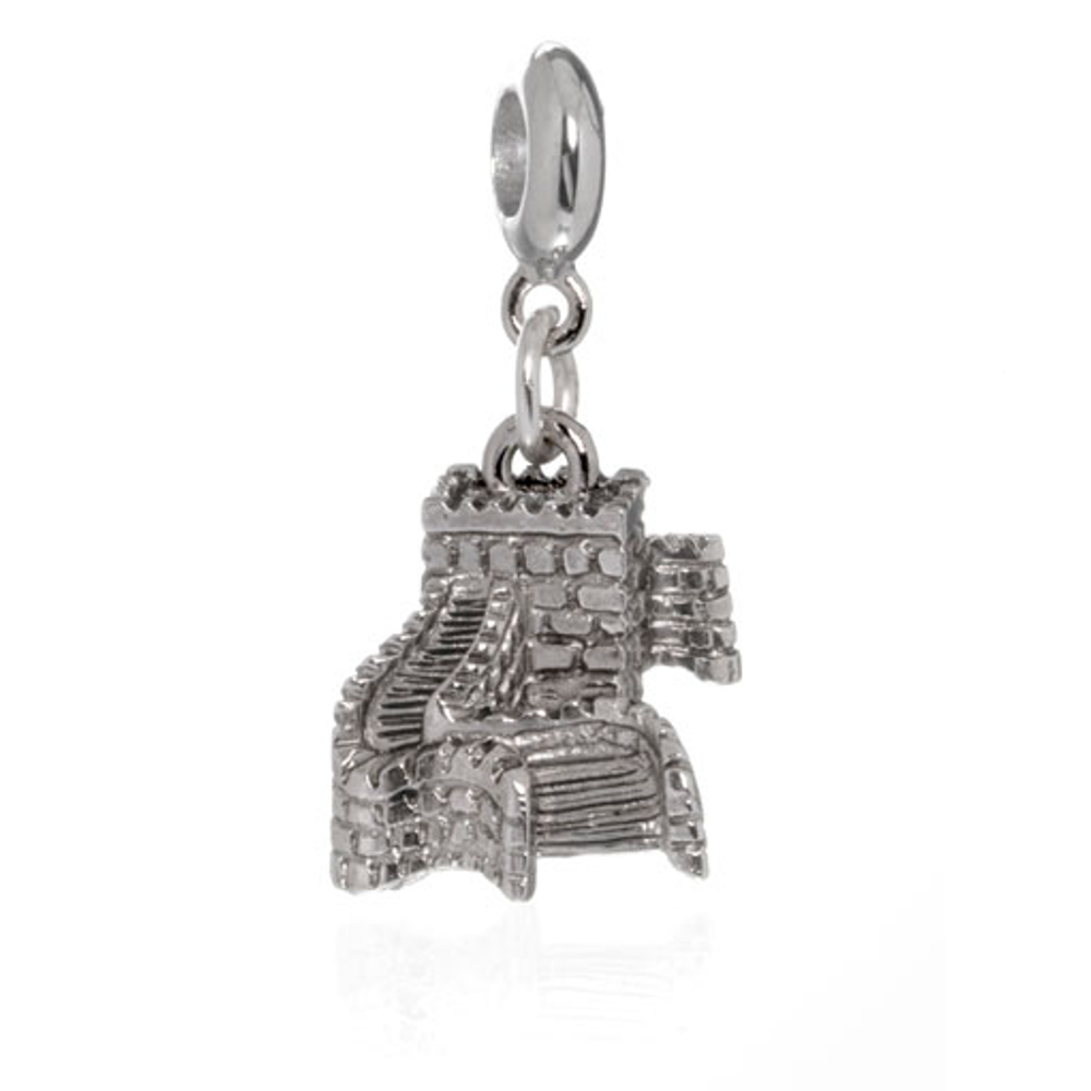 ME ME™ Silver Tone Great Wall Of China Drop Charm