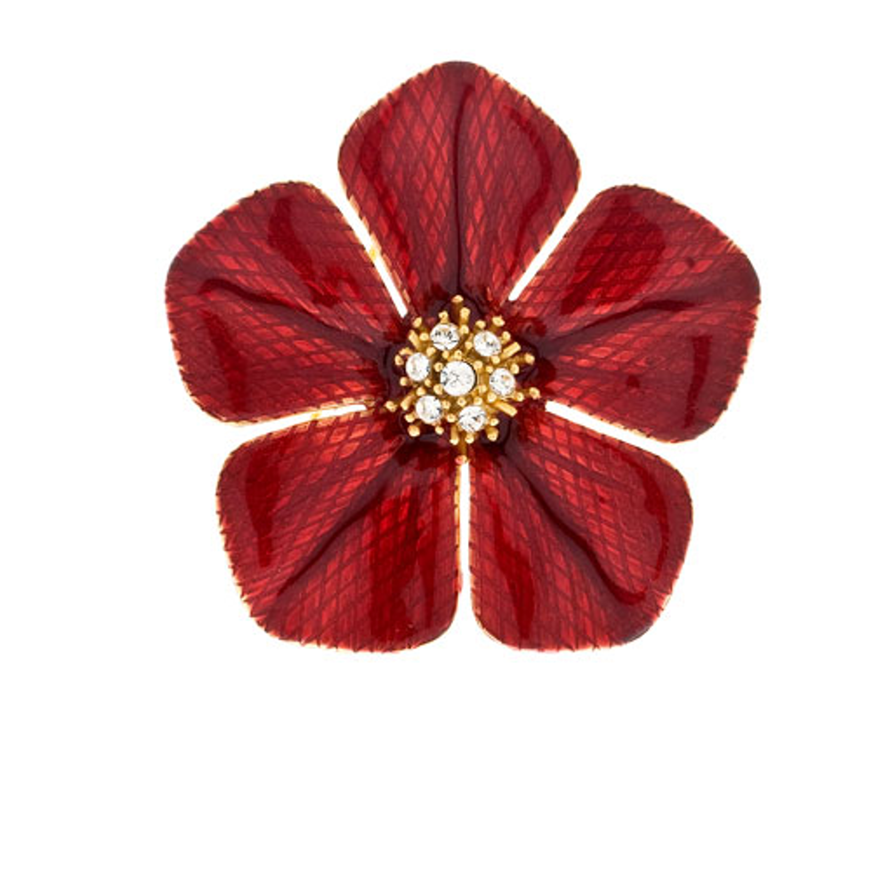 Garden of Love Red Flower Pin