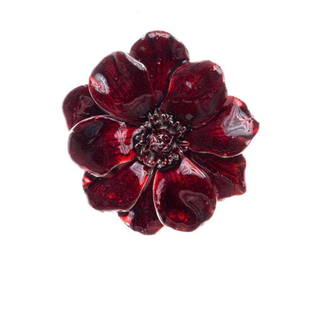 Giverny Garnet Flower Enhancer/Pin